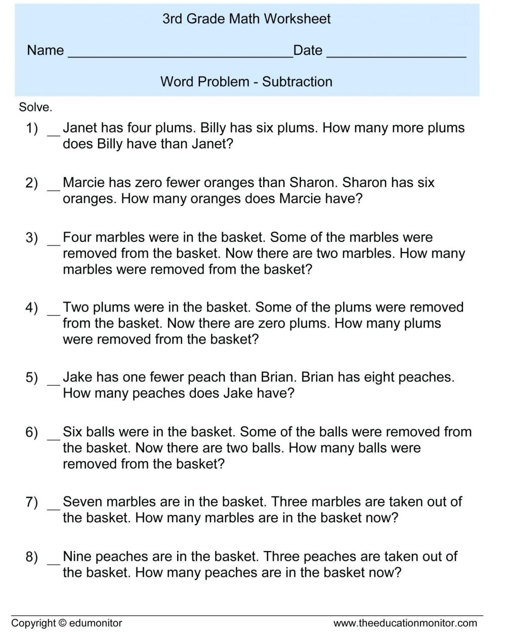 medium resolution of 6th Grade Fractions Word Problems Worksheet   Printable Worksheets and  Activities for Teachers