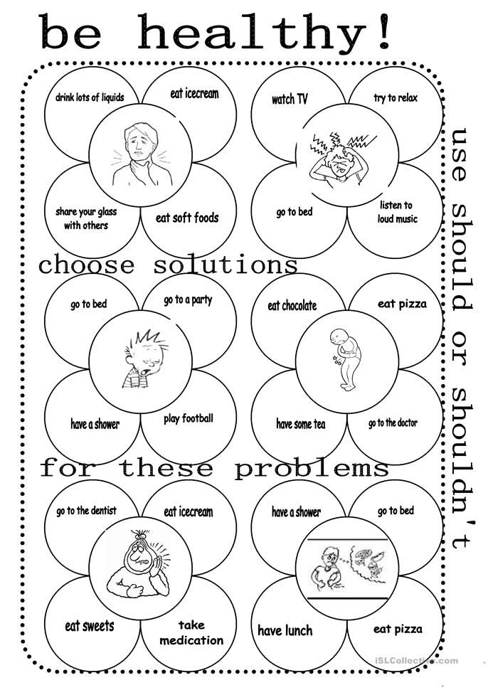 Elementary Health Worksheets