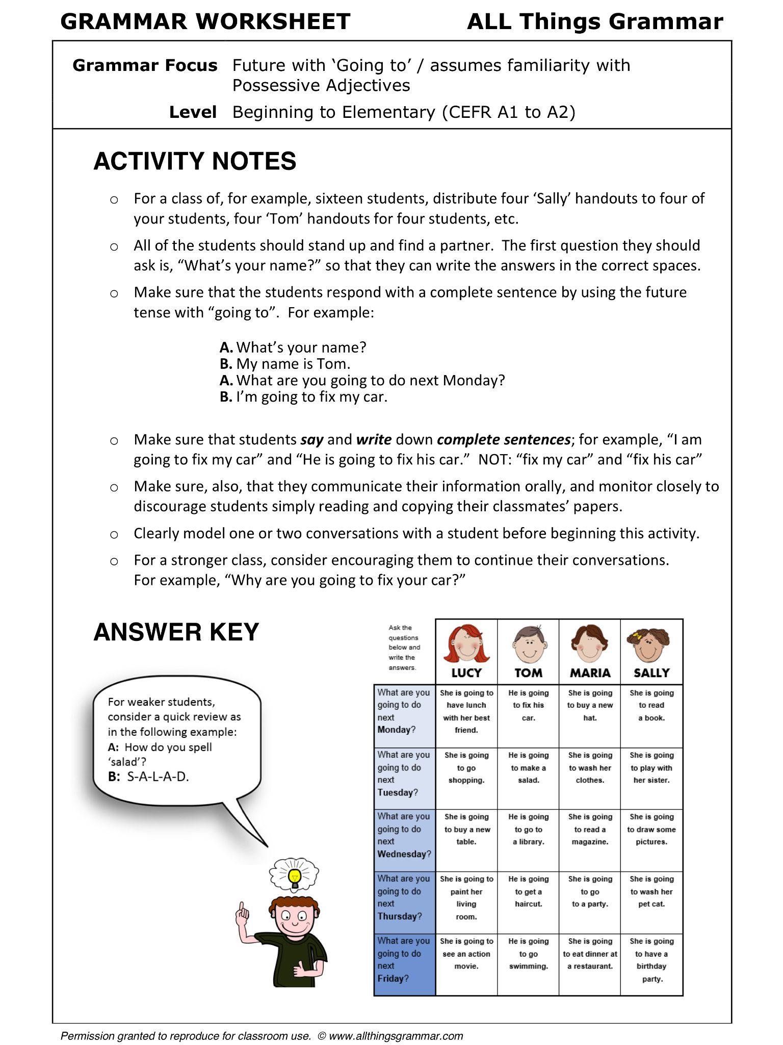 Esl Social Stu S Worksheets