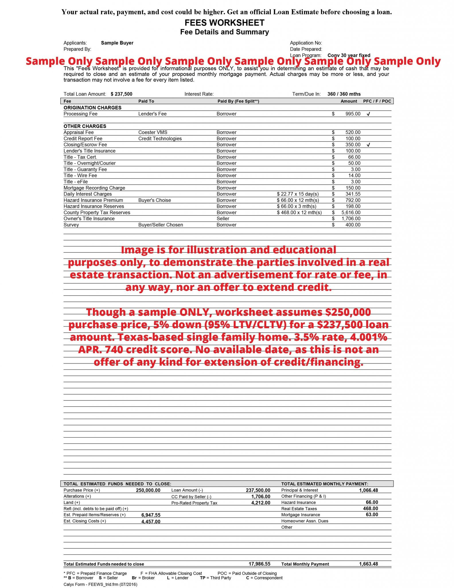 Estimated Tax Worksheet