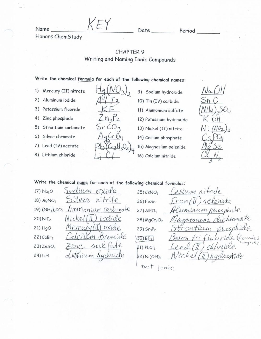 medium resolution of 30 Formulas For Ionic Compounds Worksheet Answers - Worksheet Project List