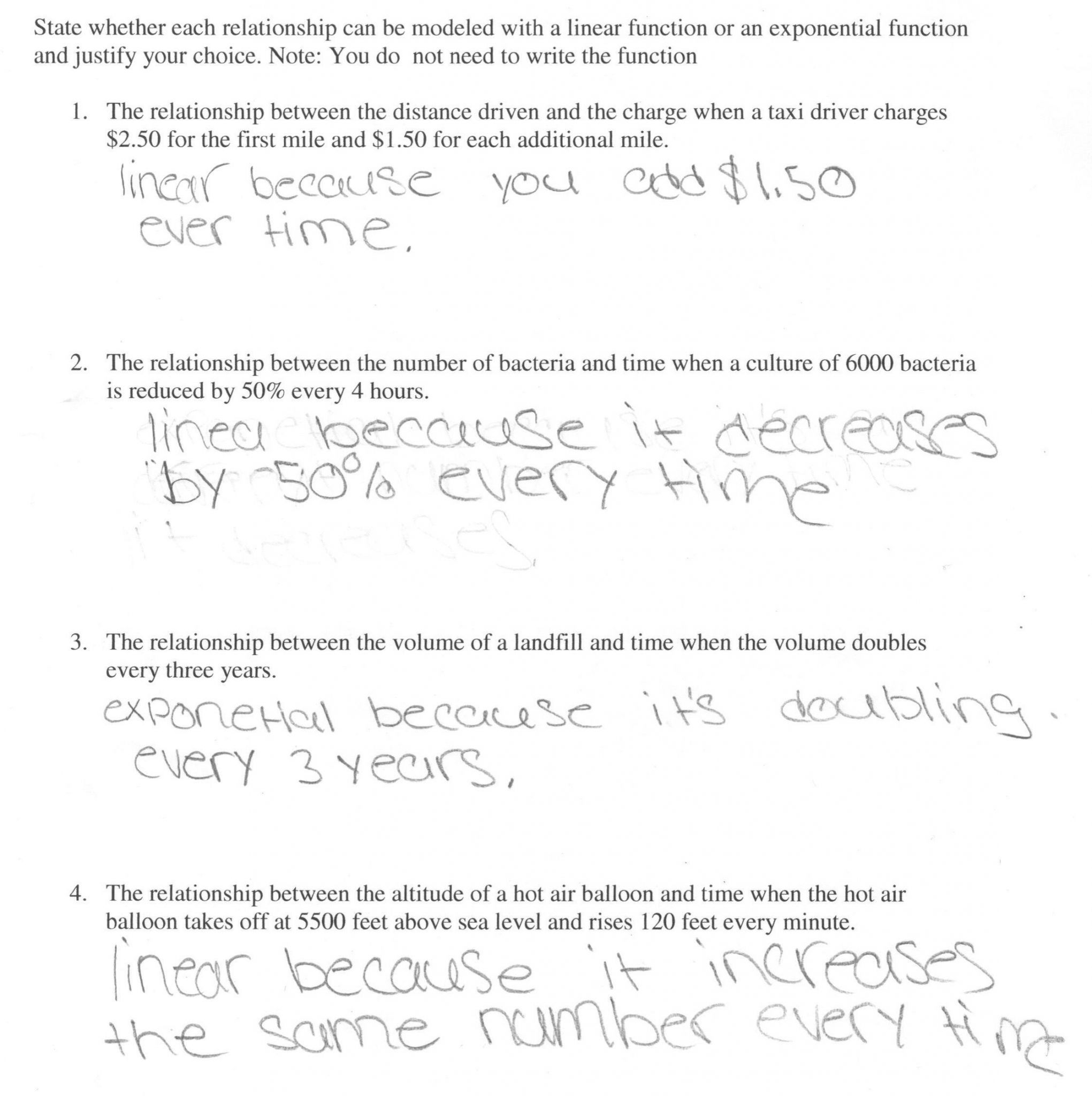 Functions Word Problems Worksheet