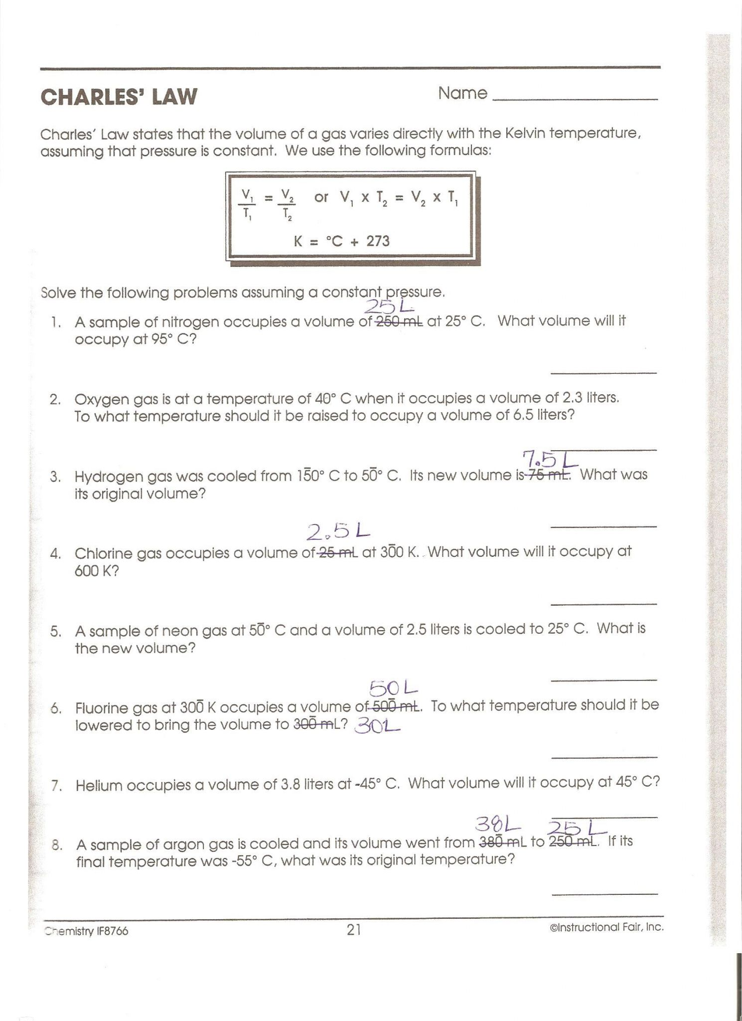 Coulomb S Law Worksheet With Answers