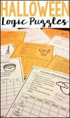 Halloween Math Logic Puzzles Halloween Activities for Grades 4 and up