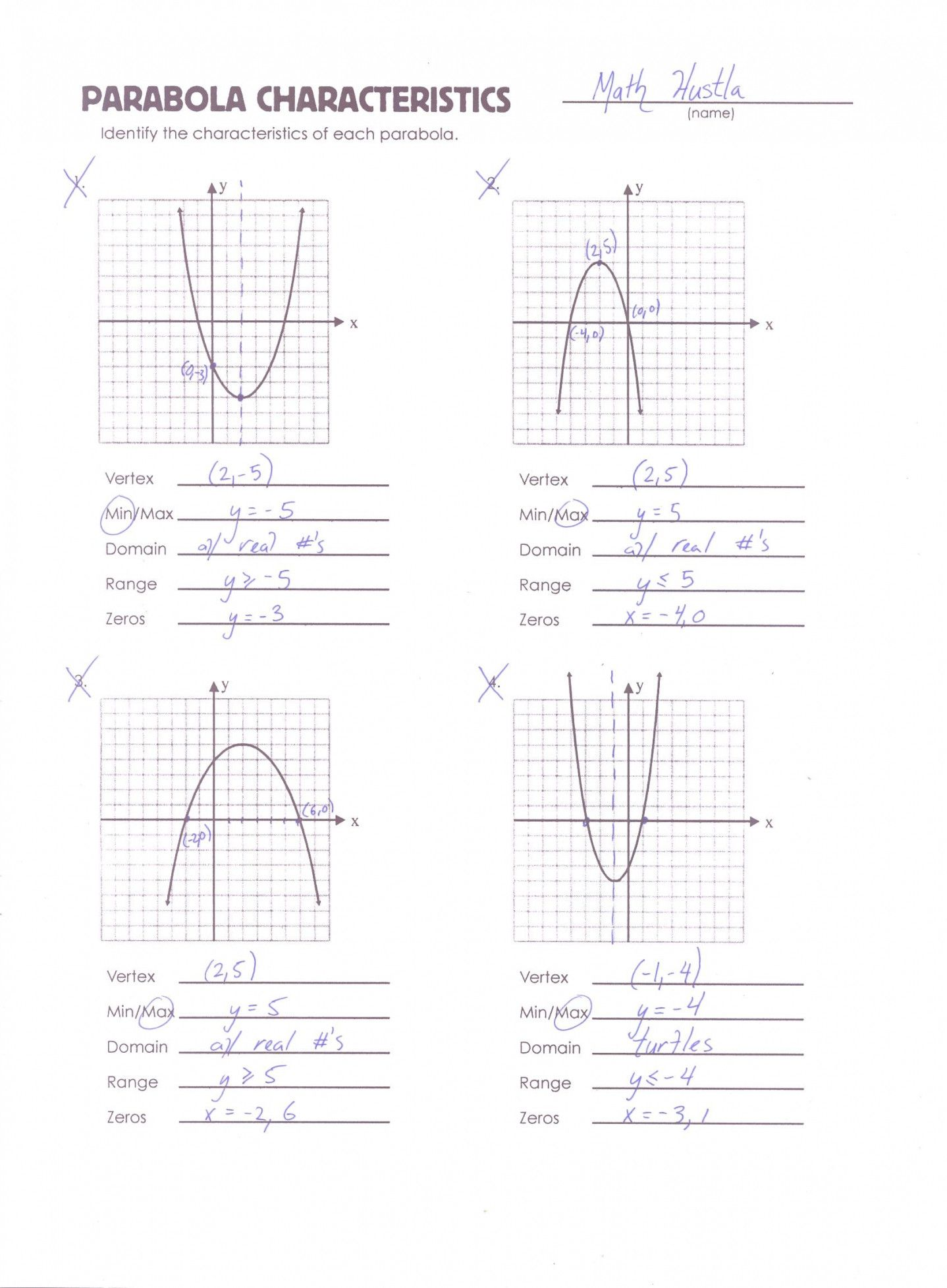 28 Graphing Quadratic Functions In Vertex Form Worksheet