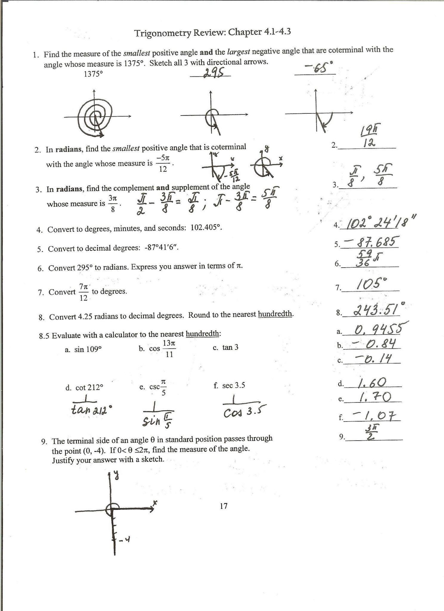 Reading Graphs Worksheet
