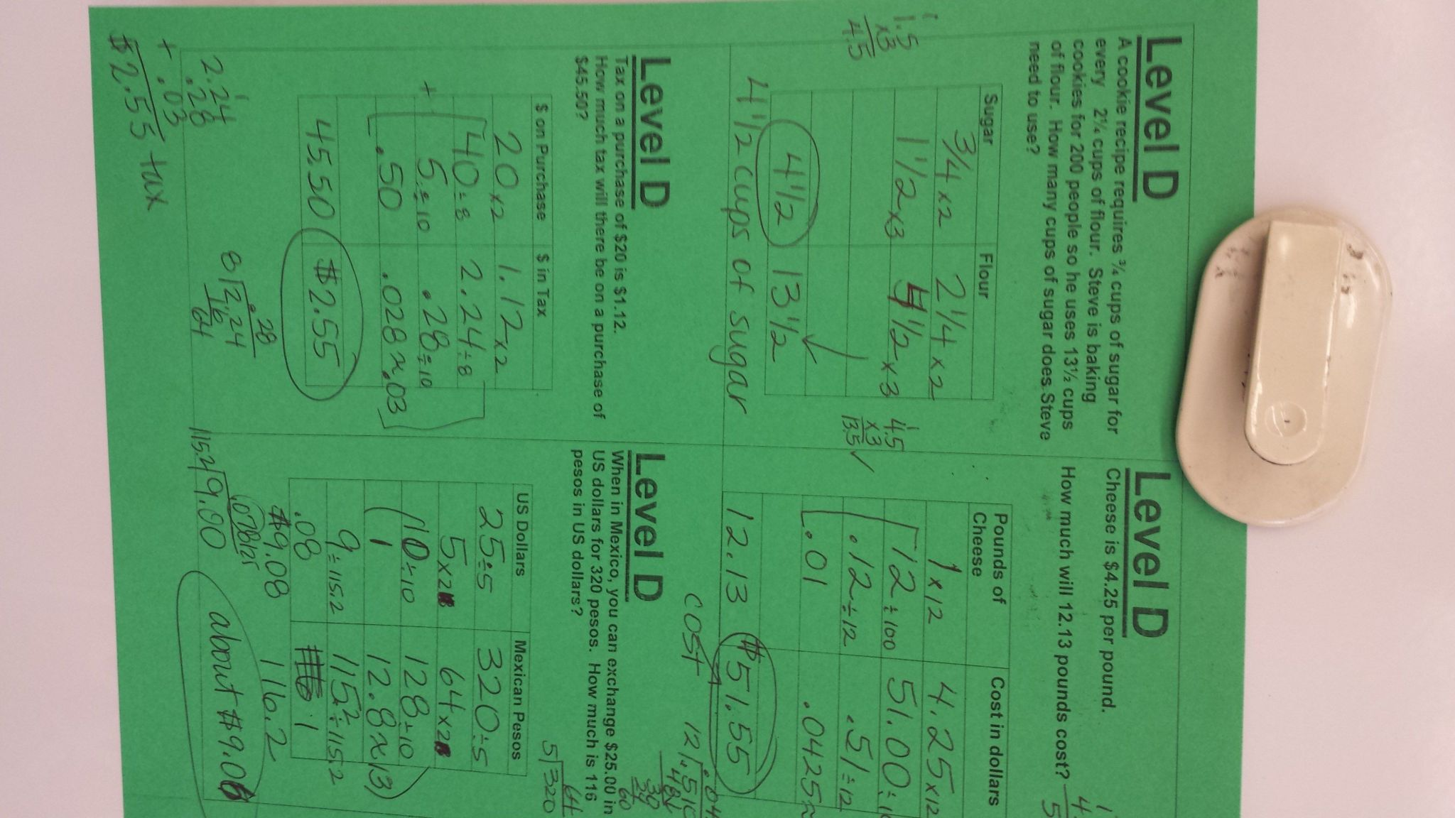 Greatest Common Factor Worksheet Answer Key