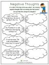 It s John s first day at his new school and he is anxious Help him change his negative thoughts into positive ones Find this worksheet and more resources