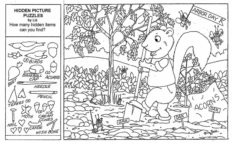 Adult Hidden Object Printable Worksheets