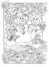 Snowman Hidden Picture Puzzle for Christmas Hidden Printables Hidden Picture Puzzles Christmas
