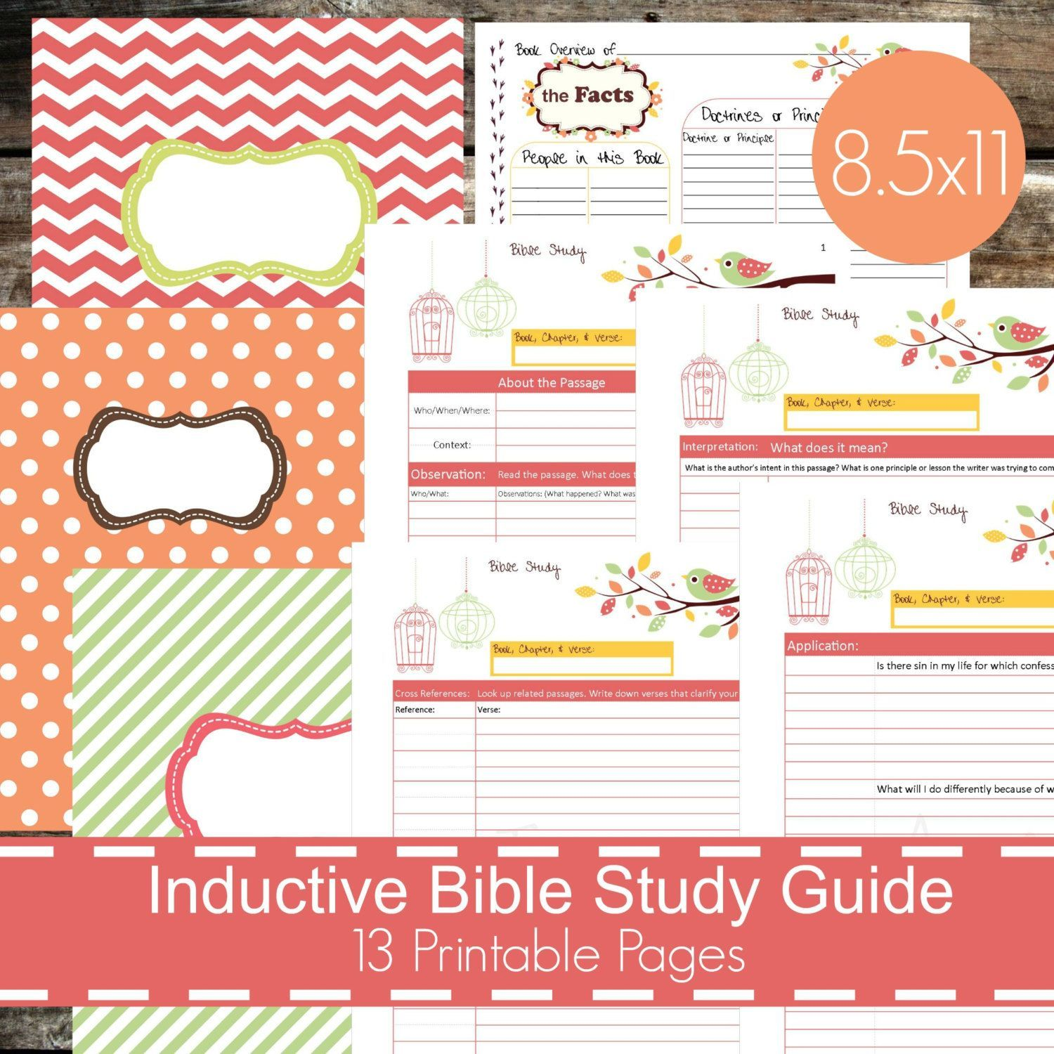 Inductive Bible Study Worksheet