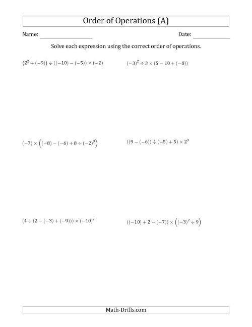small resolution of Integers Practice Worksheets   Printable Worksheets and Activities for  Teachers