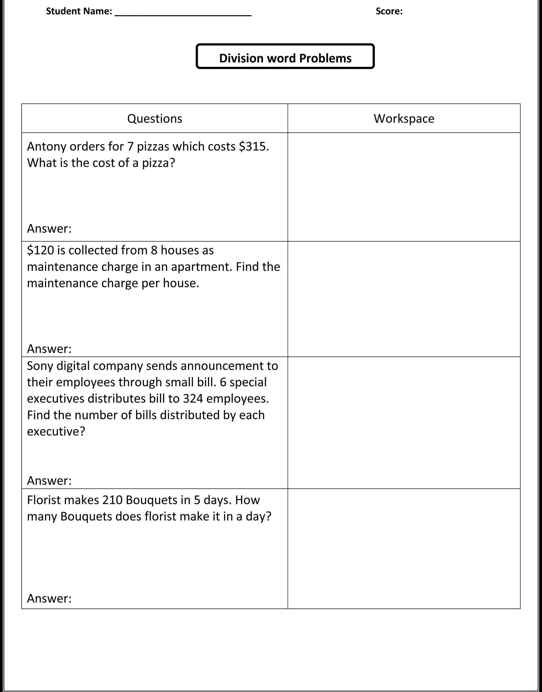 Integers Worksheet