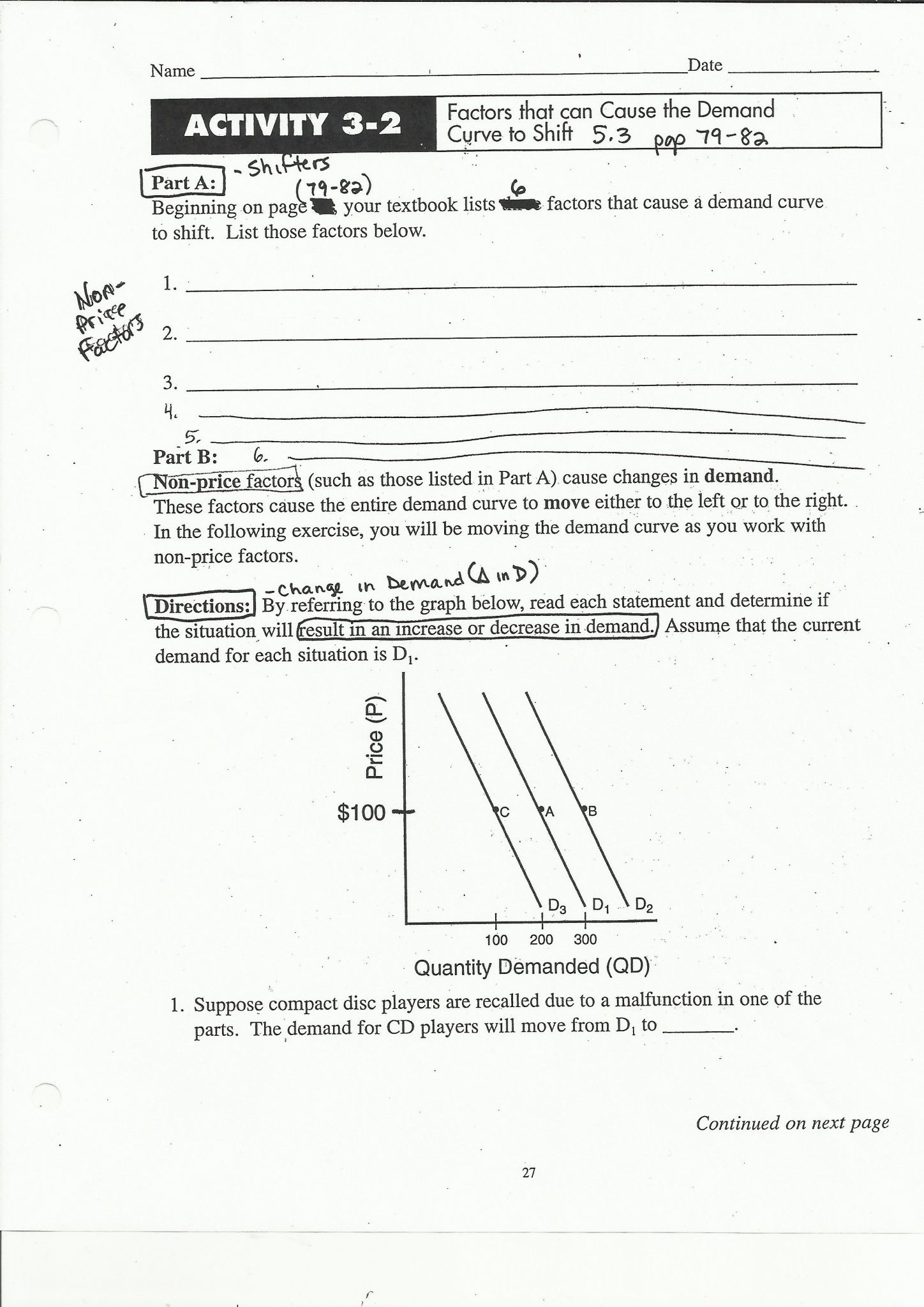 Interpreting Graphs Worksheet Answer Key