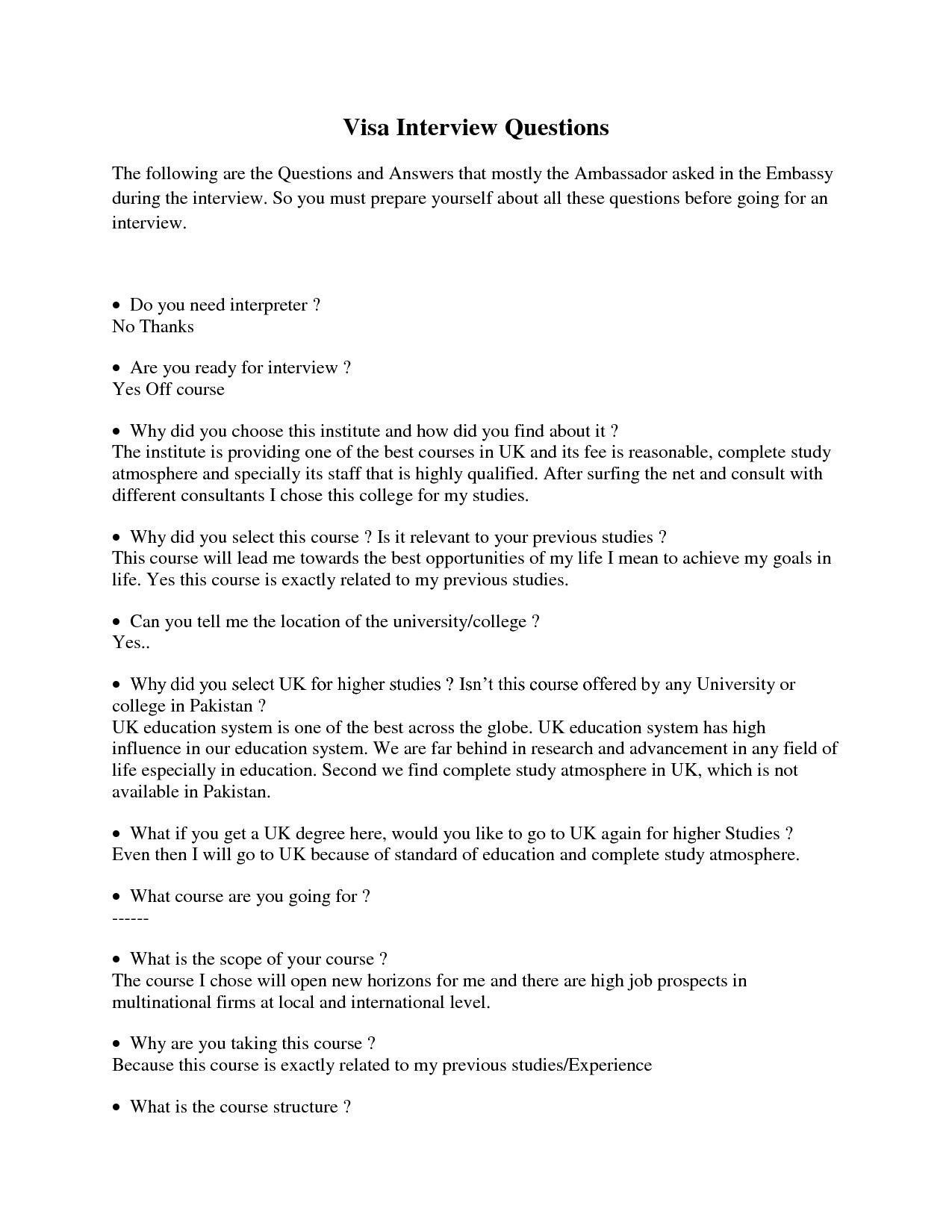 Interview Worksheet For Students