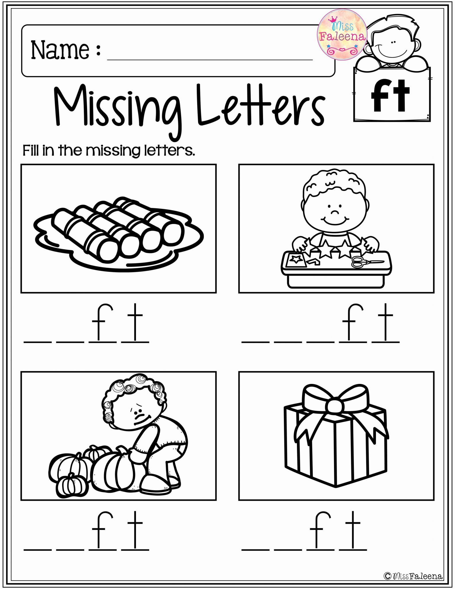 Kindergarten Letter Worksheets