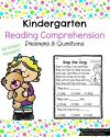 Kindergarten Reading prehension Passages 40 unique passages by word family Great for fluency and prehension Kindergarten 1stGrade reading