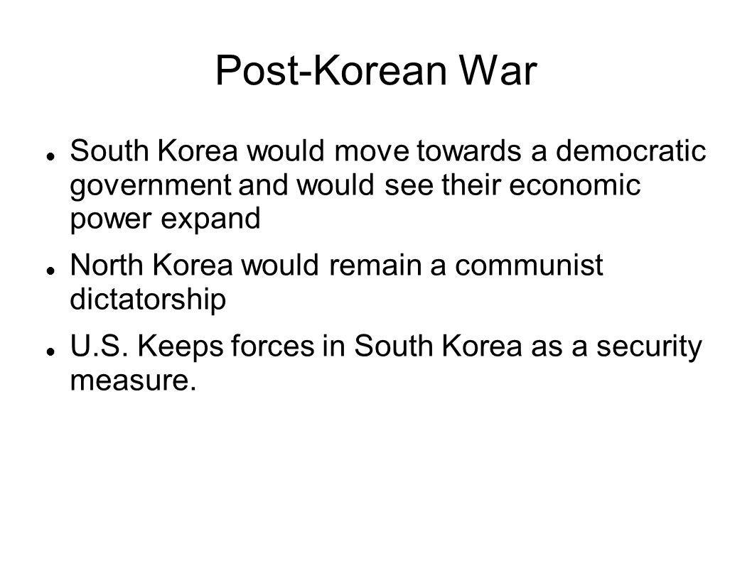 Korean War Worksheet