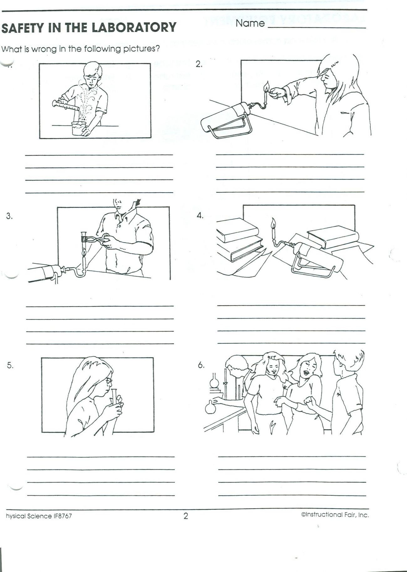 hight resolution of Recognizing Lab Safety Worksheet Answers - Worksheet List