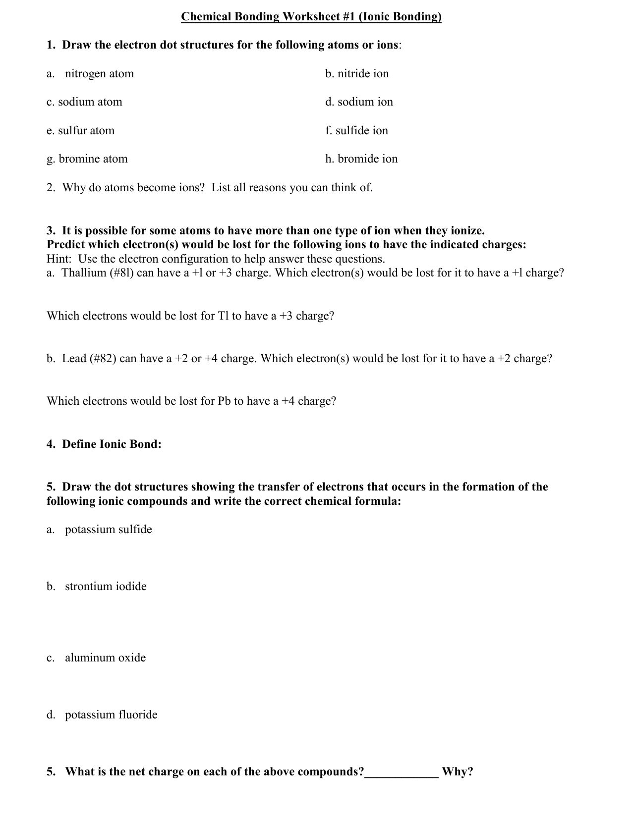 Lewis Dot Structures Worksheet 1 Answer Key