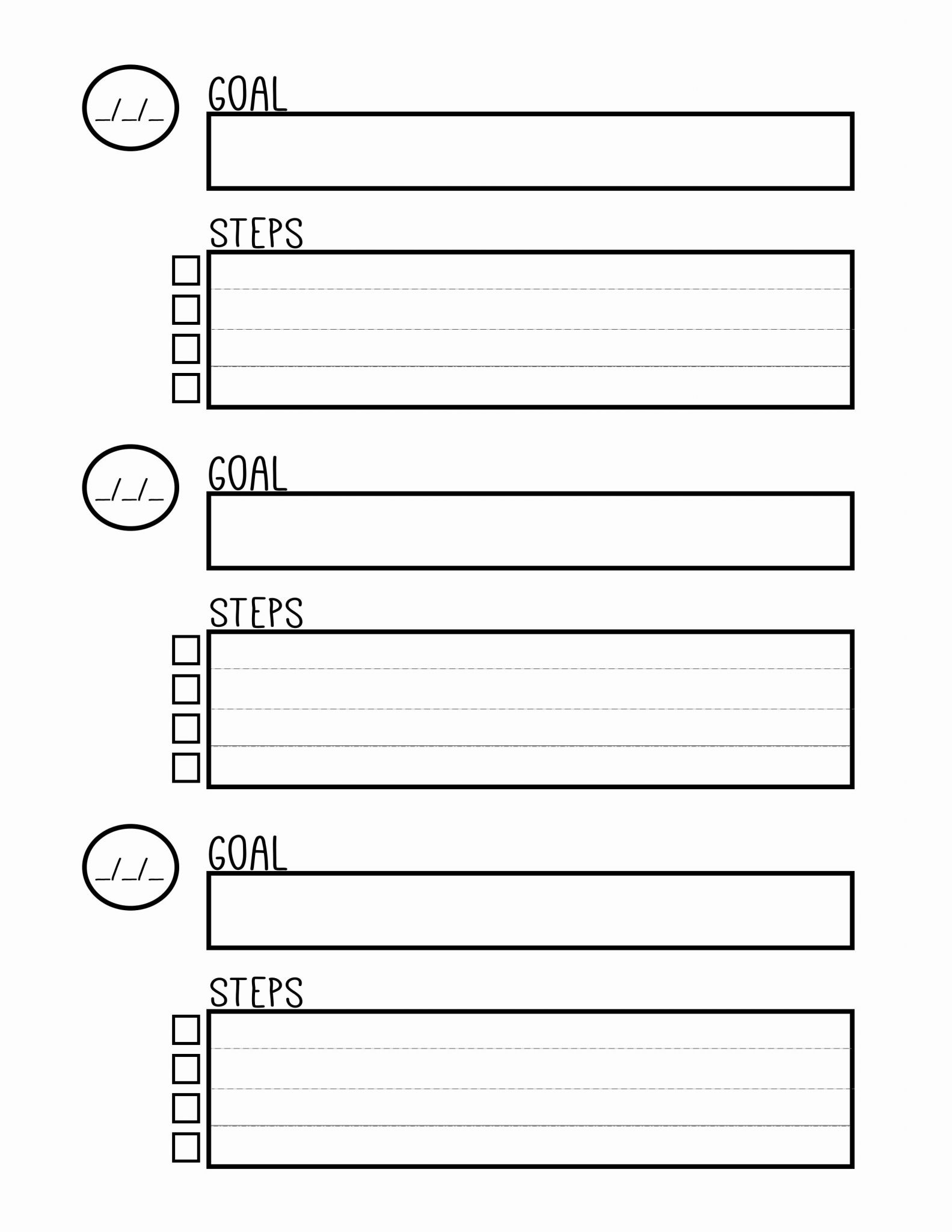 Life Plan Worksheet