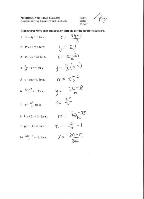 small resolution of Linear Equation In One Variable Worksheet - Nidecmege