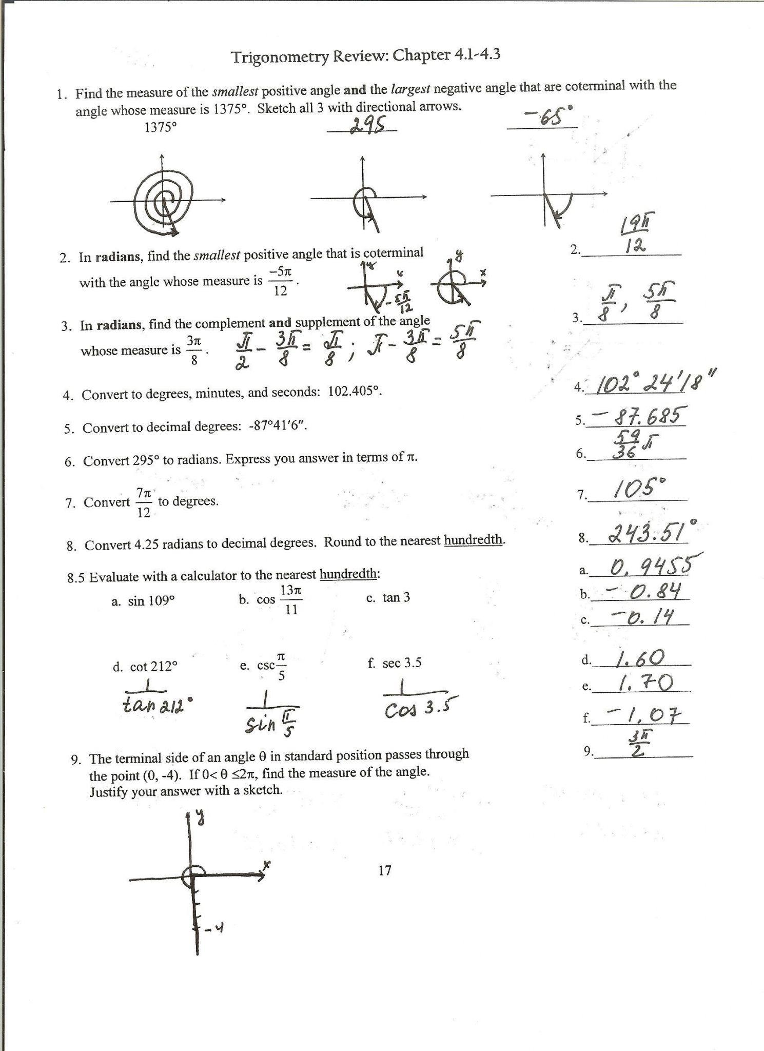 Algebra 2 Worksheet With Answers 11