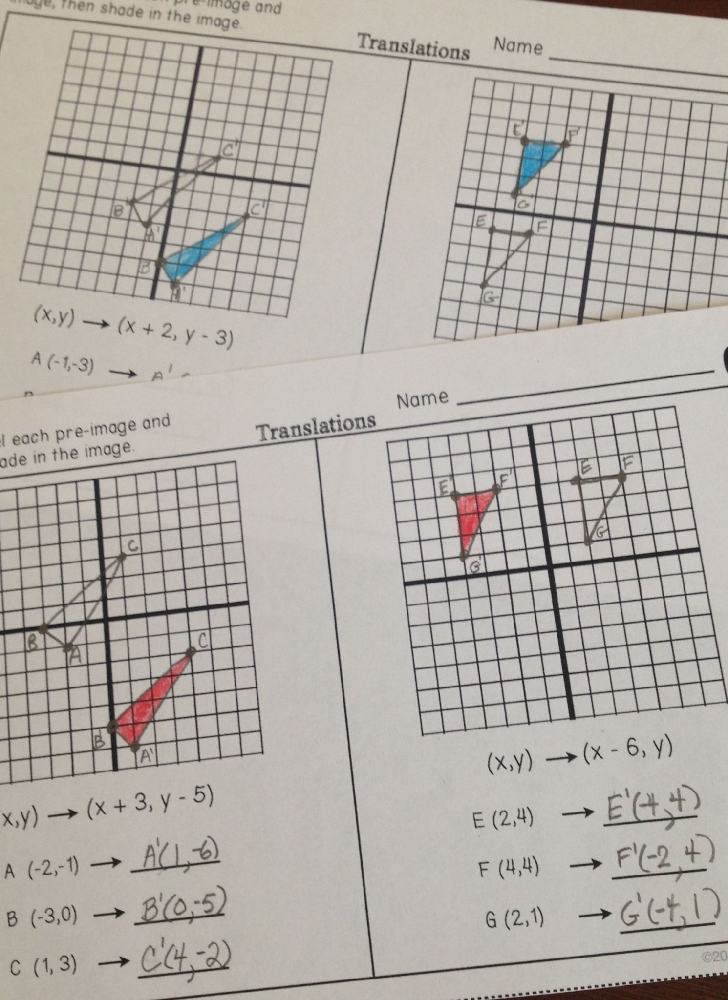 Algebra 2 Honors Worksheet