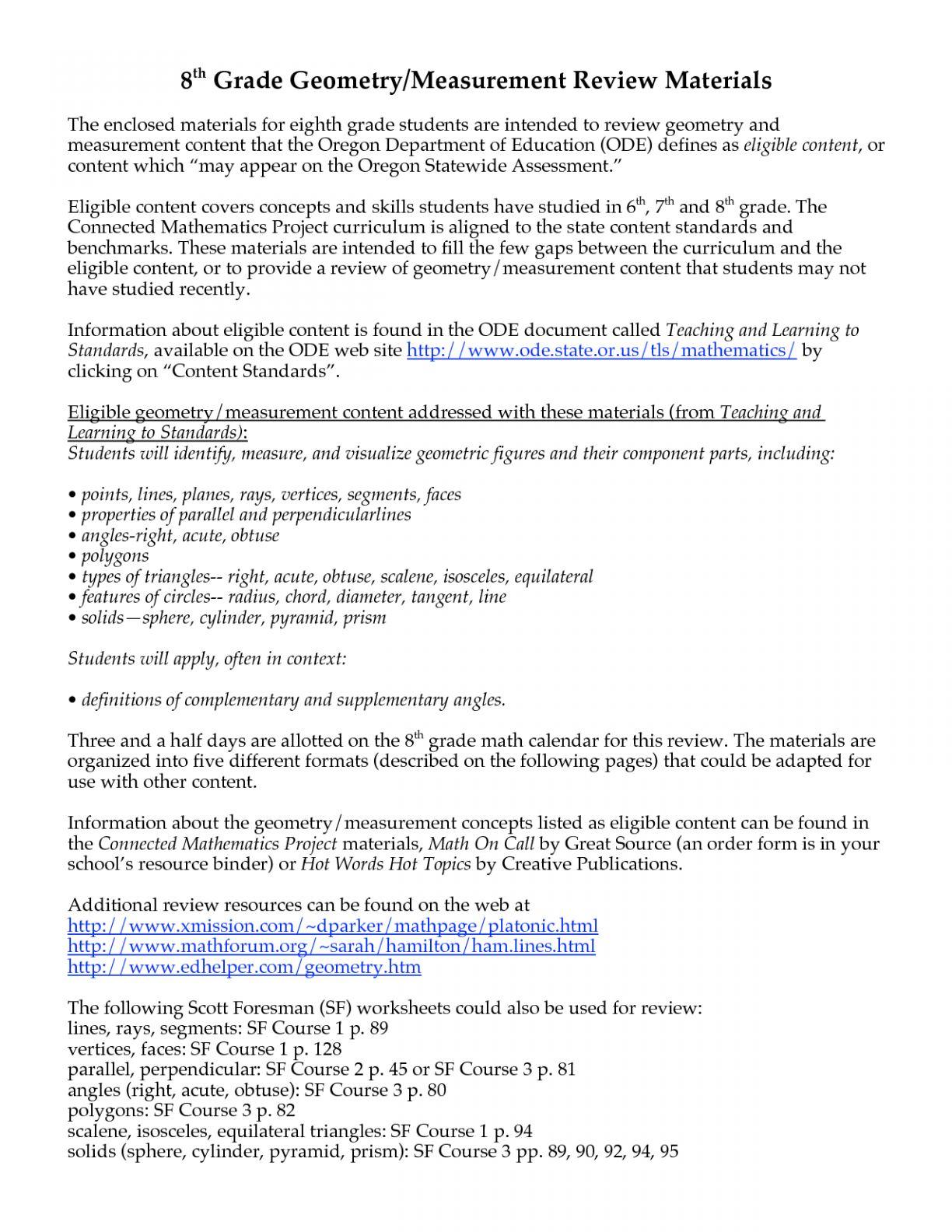Math Assessment Worksheets