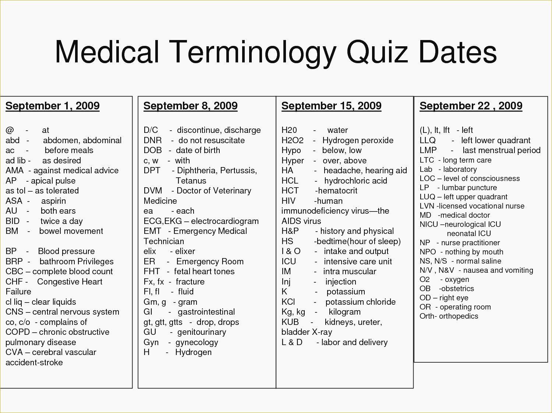 Medical Terminology Prefixes Worksheet