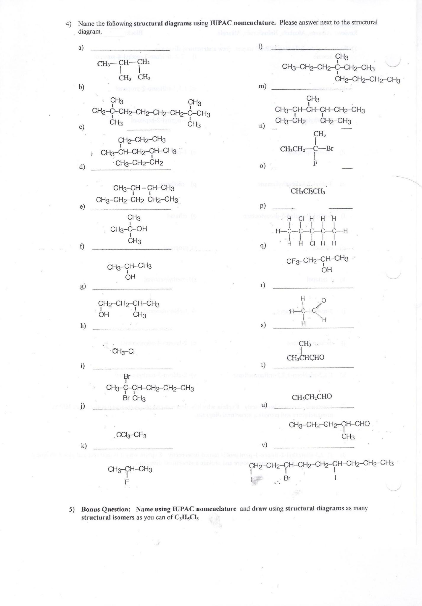 Molecular Compounds Worksheet Answers