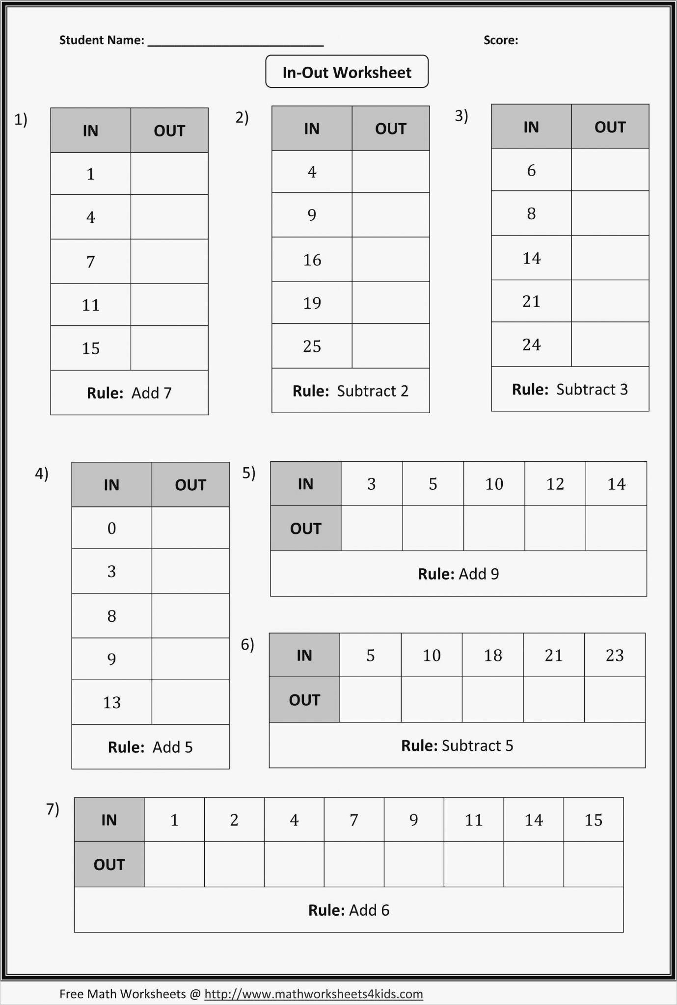 6th Grade Worksheet Multiplying Numbers