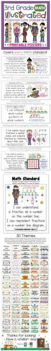mon Core Standards I Can Statements for 3rd Grade