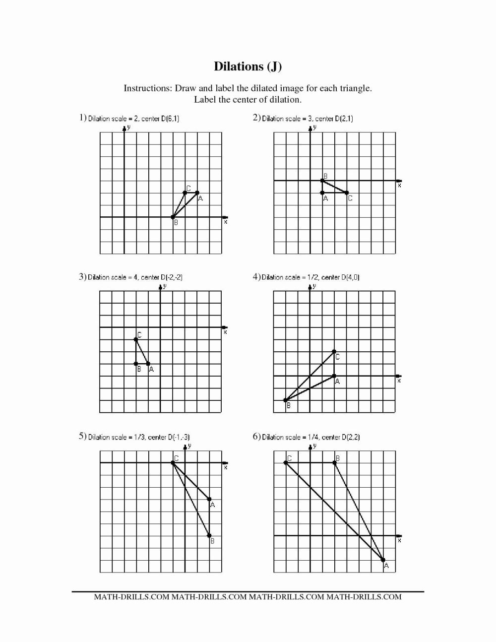 medium resolution of Math Aids Worksheets Dilations   Printable Worksheets and Activities for  Teachers