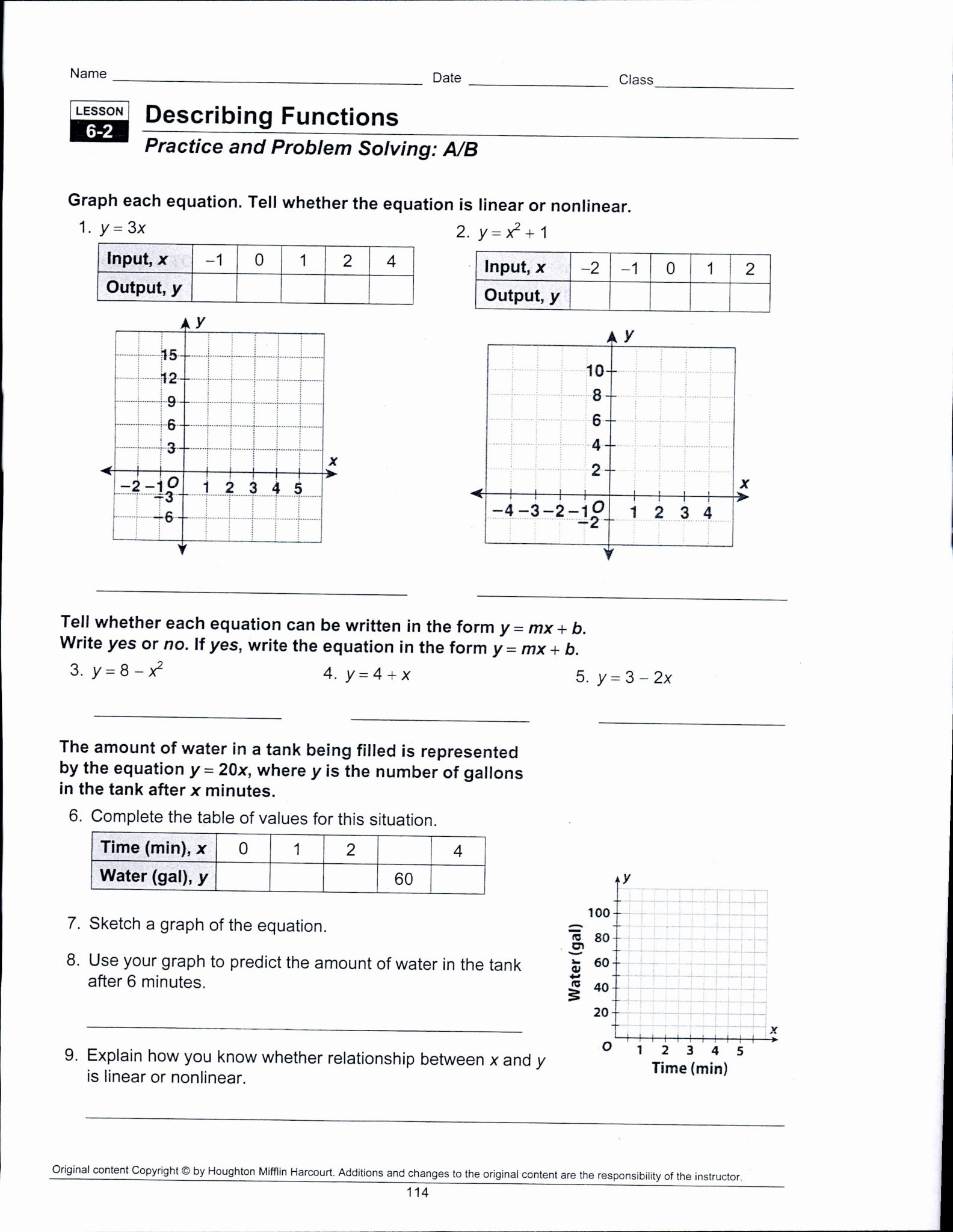 Ordered Pairs Worksheet