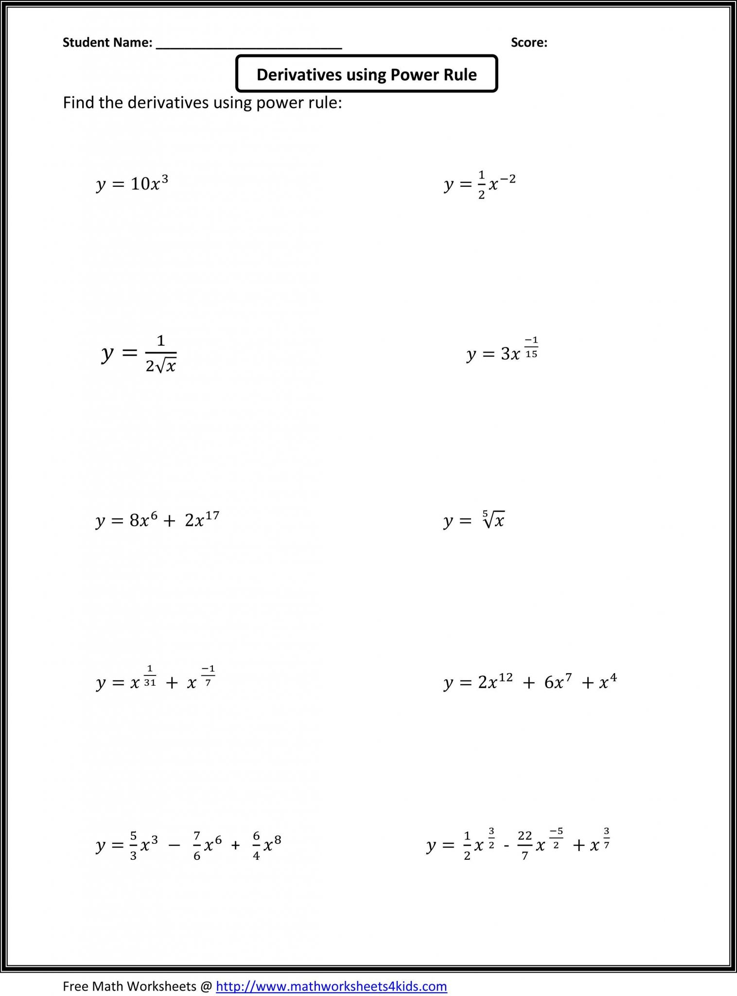 Ordering For Rational Numbers Independent Practice