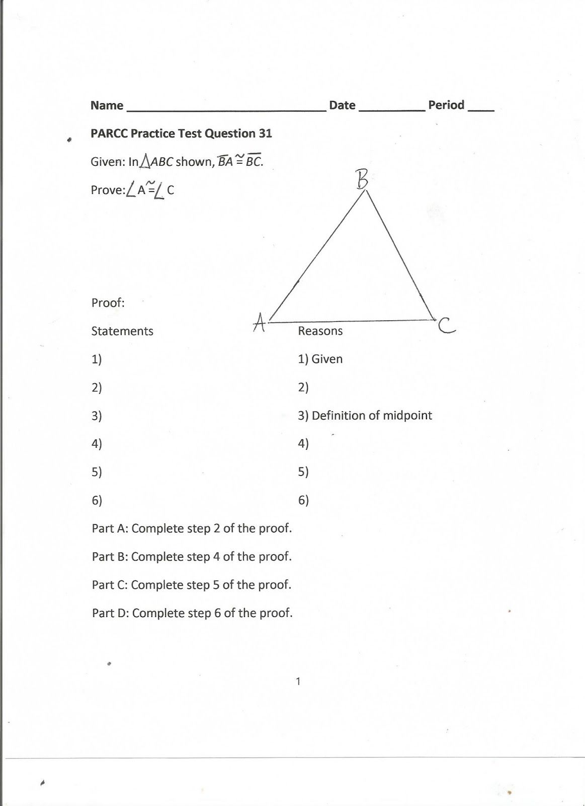 Parcc Practice Worksheets