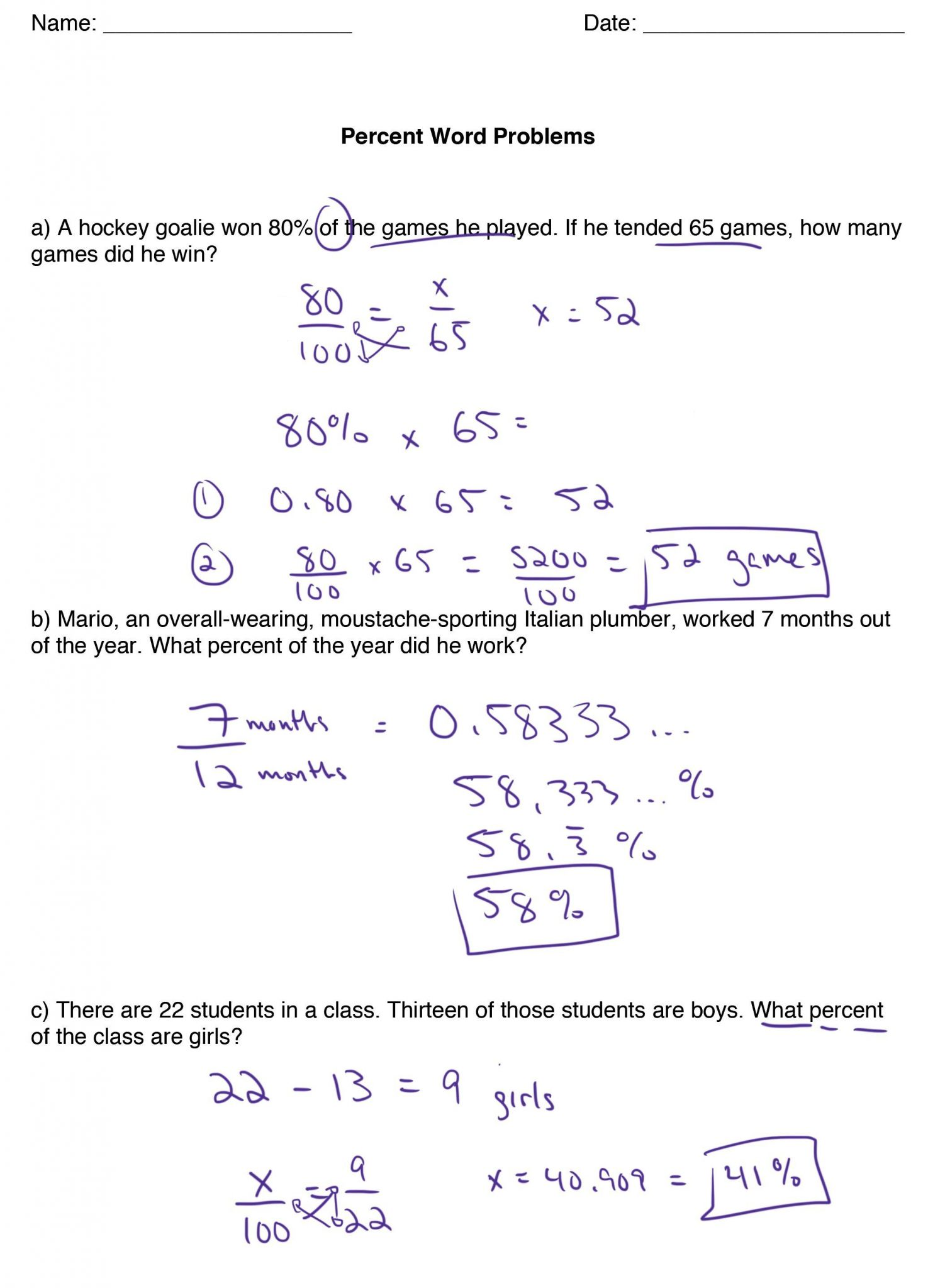 percent word problems worksheet with answers printable worksheets and activities for teachers. Black Bedroom Furniture Sets. Home Design Ideas