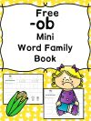 Ob Word Family Worksheets Make A Book Cvc Pdf Activities