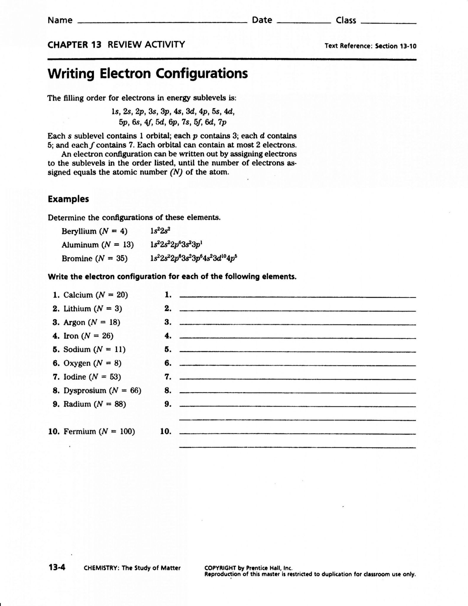 Photoelectron Spectroscopy Worksheet Answers