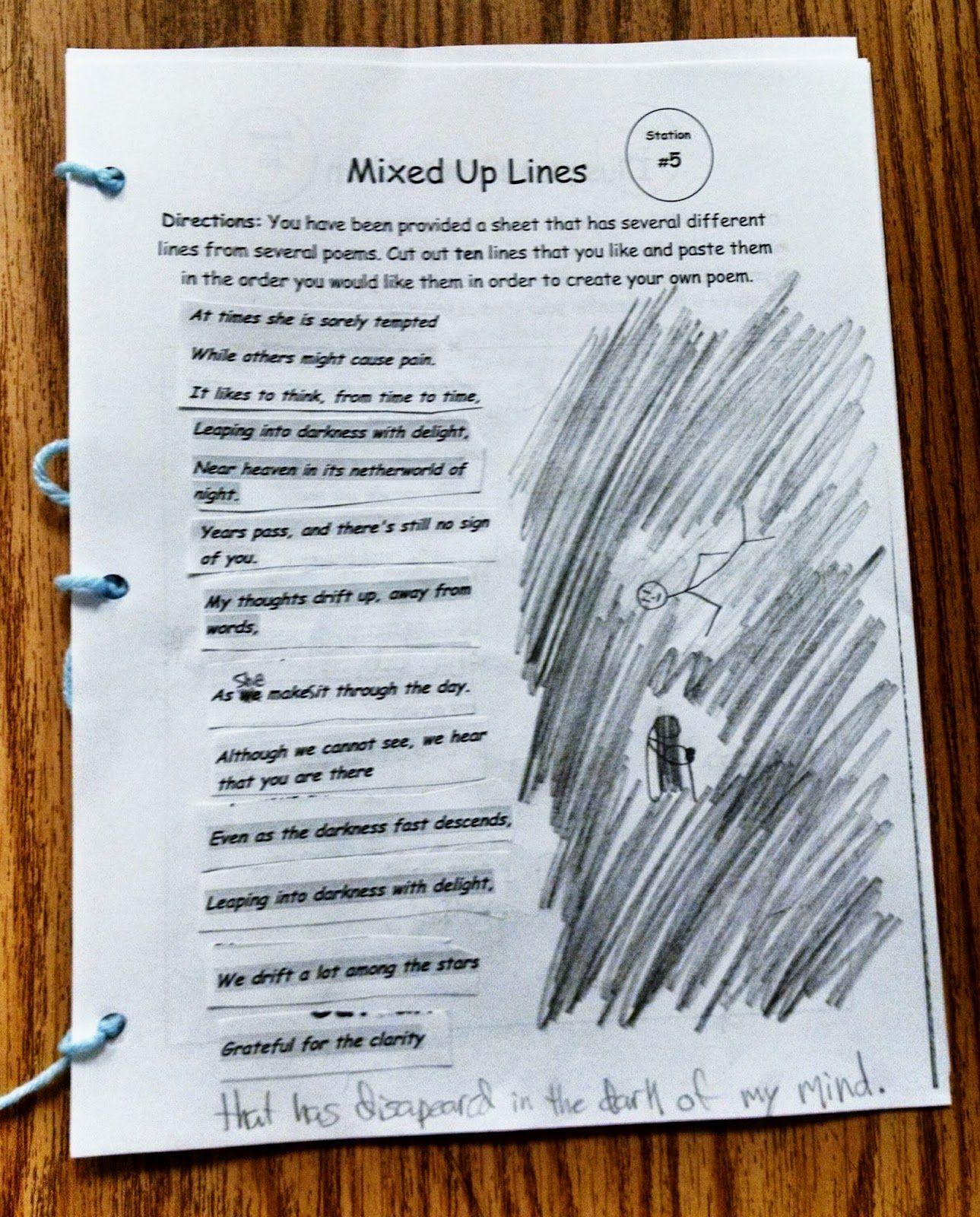 Poetry Fill In The Blank Worksheet