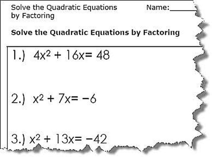 Practice 5 5 Quadratic Equations Worksheet Answers