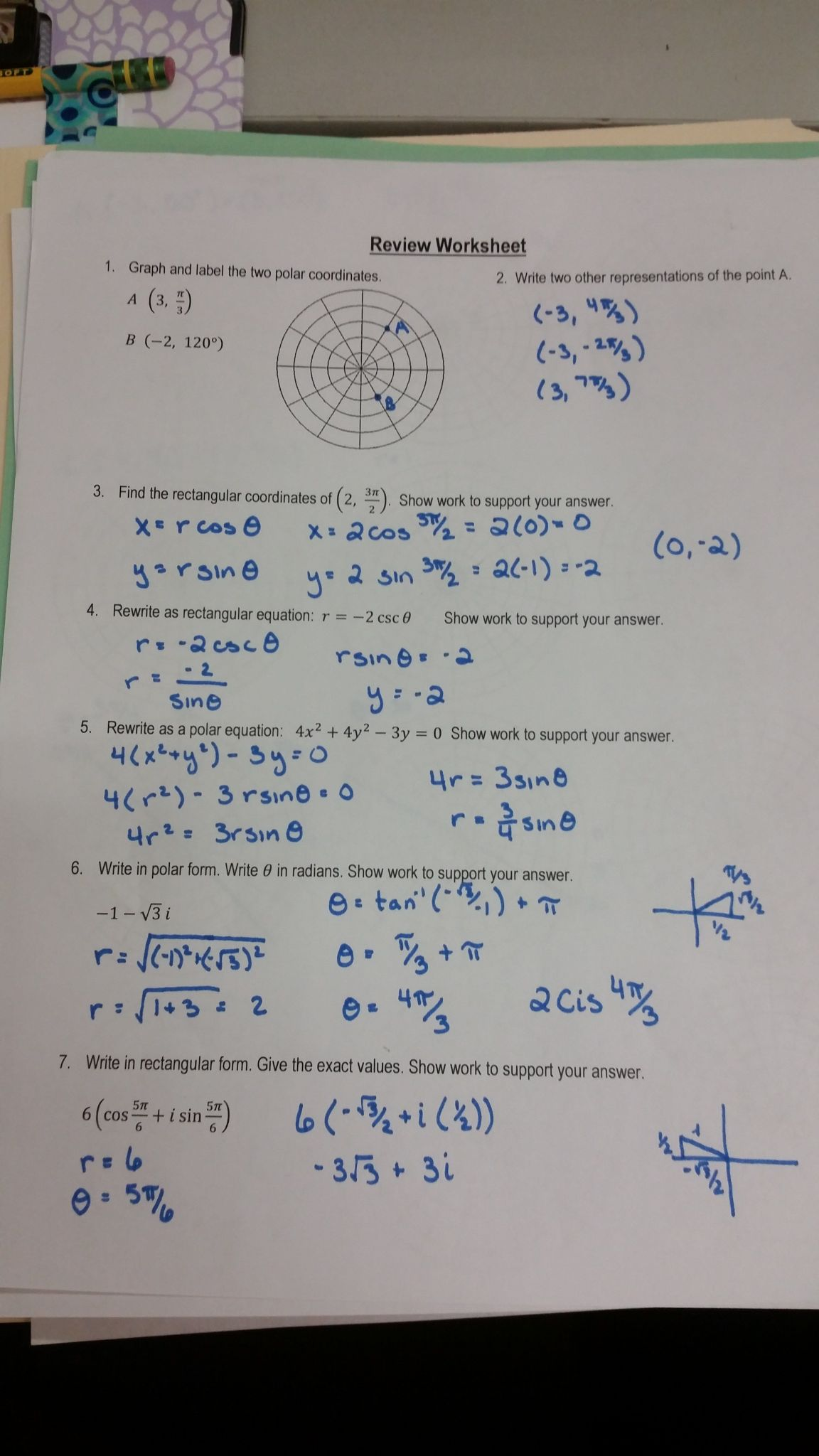 Practice Worksheet Solving Systems With Matrices Answers