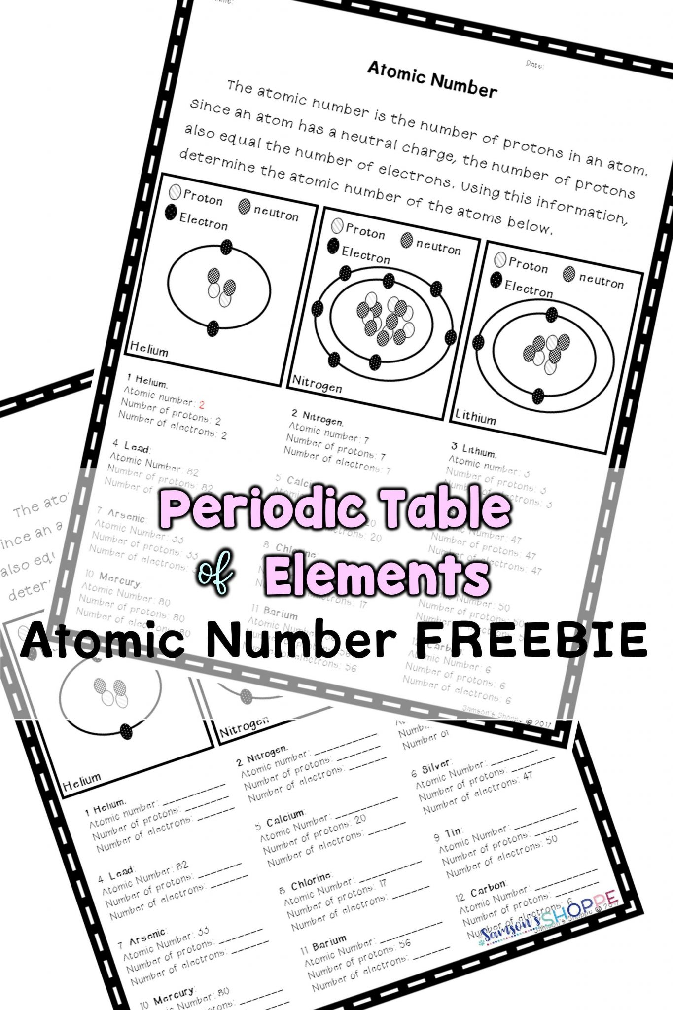 Protons Neutrons Electrons Atomic And Mass Worksheet Answers