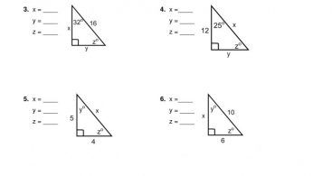 Right Triangle Trigonometry Worksheet Answers