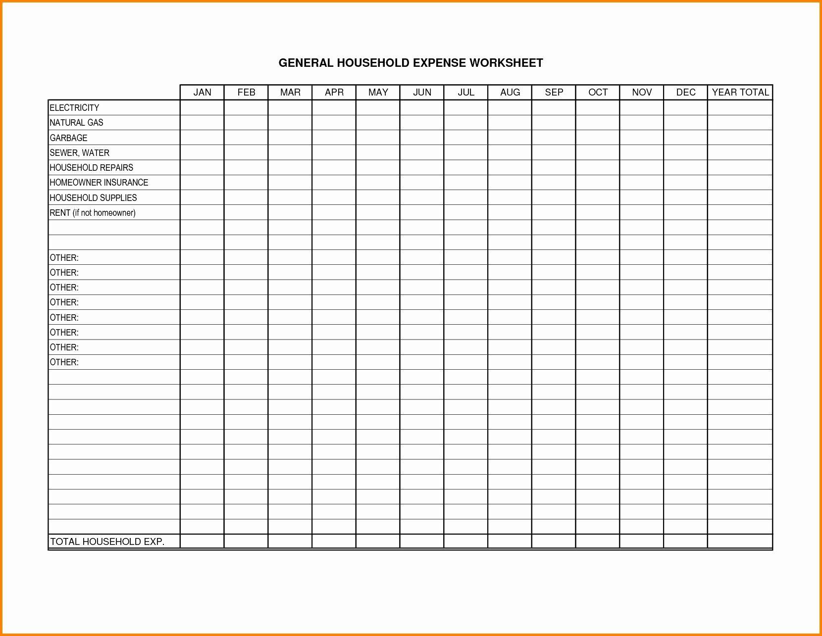 Schedule C Expenses Worksheet