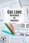 These detailed gas law worksheets include topics like Boyle s Law Gay Lussac s Charles Law kinetic molecular theory and partial pressures Science with