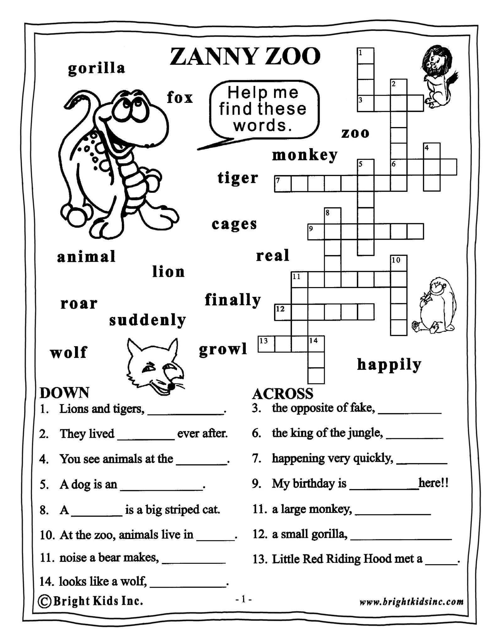 Seventh Grade English Worksheets