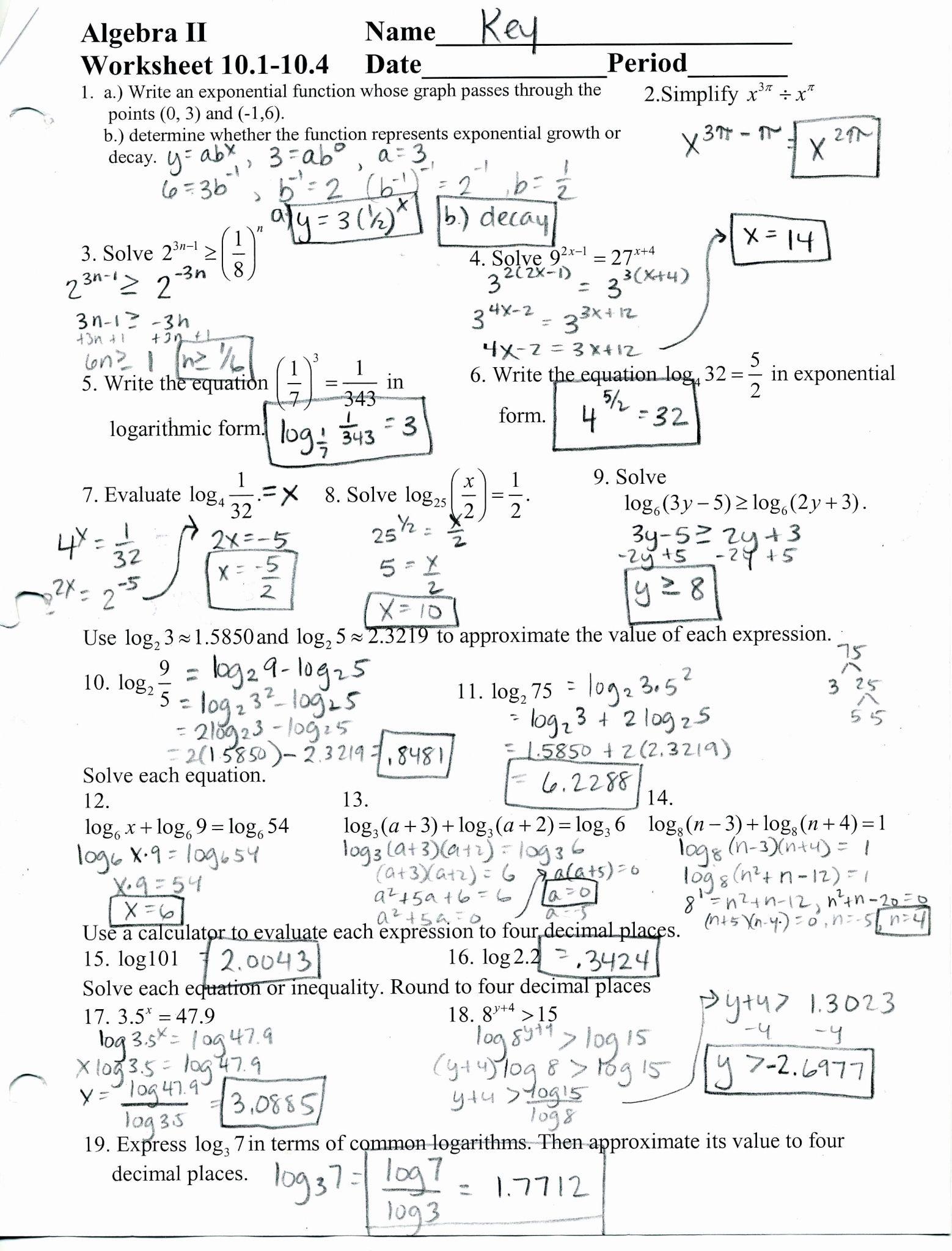 Simplifying Complex Numbers Worksheet