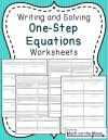 collection of one step equations worksheet grade them free worksheets 6th fun math pdf